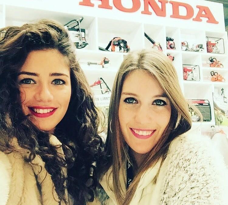 Nuestras modelos Aida y Paula, imagen de Honda en FIMA