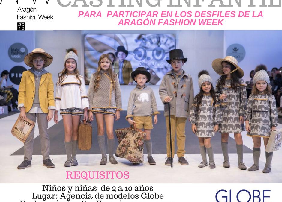 Casting infantil para la Aragón Fashion Week 2018